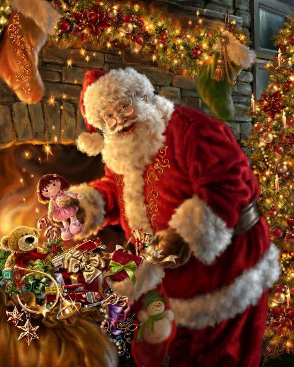 Weihnachtsmann-amp-39-Füllen-des-Strumpfes-amp-39-von-Dona-Gelsinger.jpg